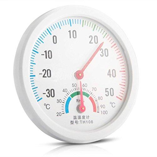 Luwu-Store Mini Reloj en Forma de Interior Higrómetro Exterior Medidor de Temperatura Termómetro de Humedad Calibrador cozinha 1pc