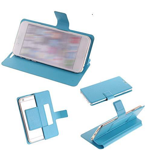 K-S-Trade Flipcover Kompatibel Mit M-Horse Pure 1 Schutz Hülle Schutzhülle Flip Cover Handy Hülle Smartphone Handyhülle Blau