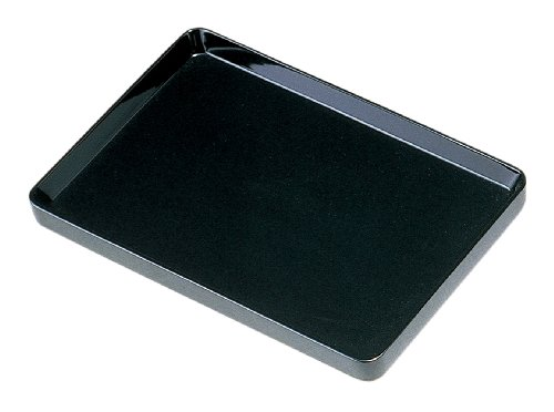 中西工芸 木製切手盆(切立) 黒 30cm 0103003