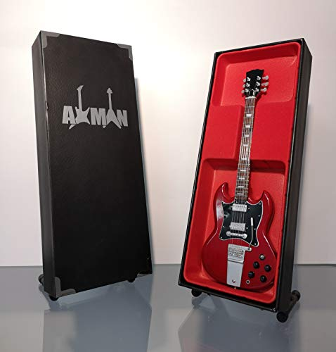 Miniatur-Gitarrennachbildung Angus Young SG Standard–Mini-Modell, Rock-Memorabilien, Nachbildung, Miniatur-Gitarre aus Holz