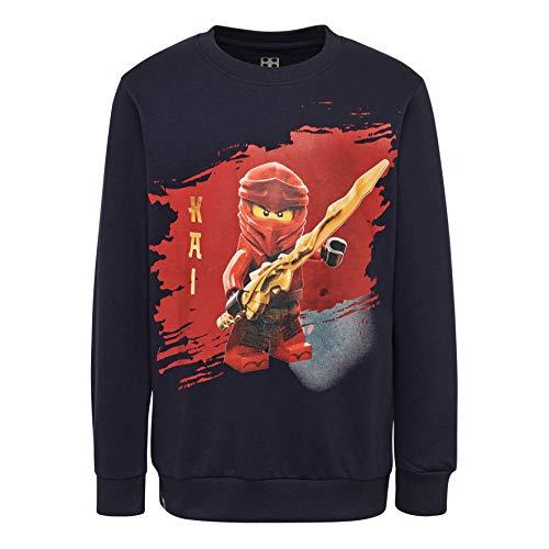 LEGO Jungen CM-50324-SWEATSHIRT Sweatshirt, Blau (Dark Navy 590), (Herstellergröße: 104)