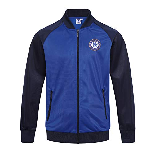 Chelsea FC Official Gift Boys Retro Track Top Jacket Navy Royal 10-11 Years