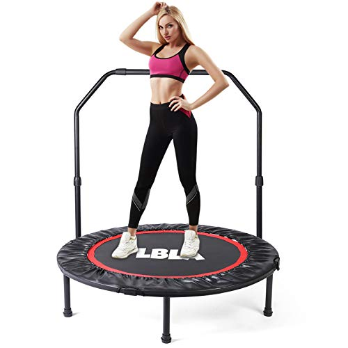 LBLA 38' Mini Trampoline, Max. Load 300lbs Indoor Exercise Trampoline Workout,...