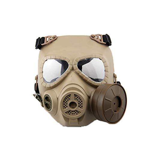 KEKE Realistisch gasmasker met enkel filter Full Face Protection veiligheidsmasker voor chique jurk, uniseks, één maat