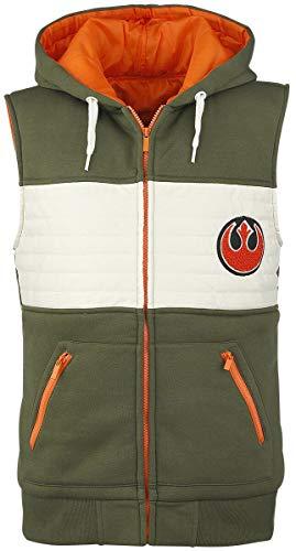 Star Wars Rebel Fighter Sweat à capuche zippé vert/blanc/orange S