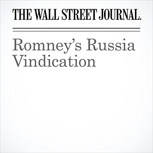 Romney's Russia Vindication copertina