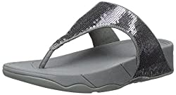 Pewter Electra Flipflop Slippers with Sequins