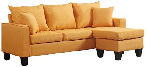 Divano Roma Furniture Modern Sectional, Yellow