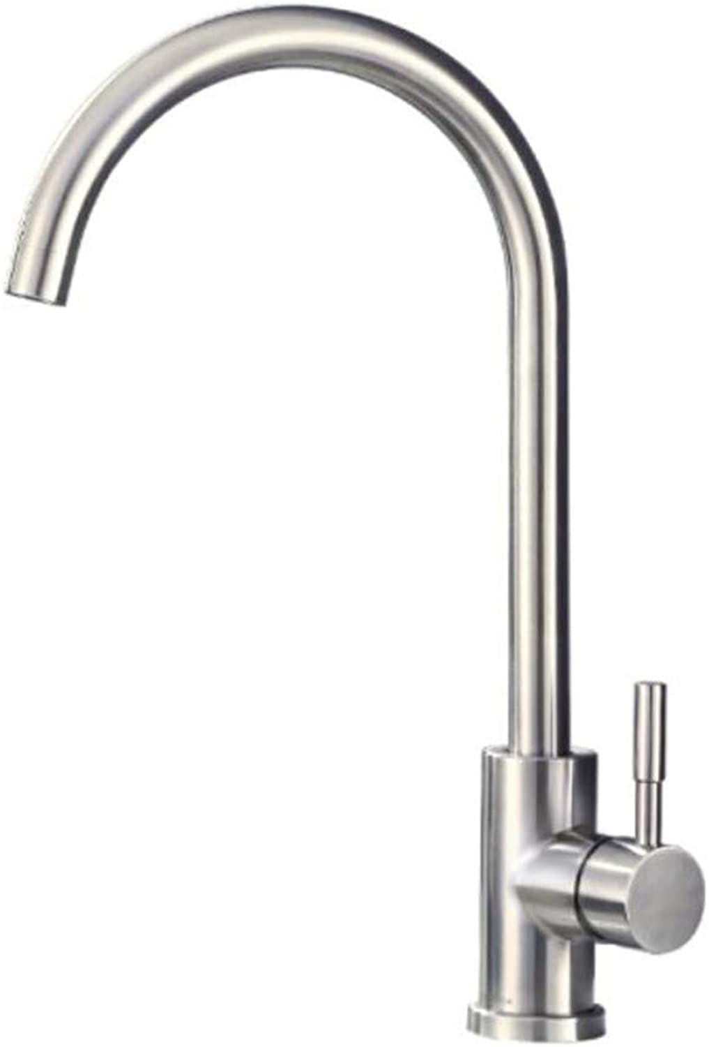 Taps Mixer?Swivel?Faucet Sink Kitchen Faucet 304 Stainless Steel Cold and Hot Water Tank, Vegetable Washing Basin, Table Basin and Basin Faucet