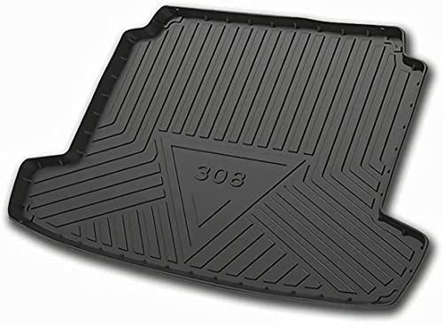 Voiture Tapis de ArrièRe Coffre Pour Peugeot 308 2016-2021, Tapis Coffre Protection Caoutchouc Résistant Cargo Pads Imperméable Anti Sale Auto Intérieur Accessoires