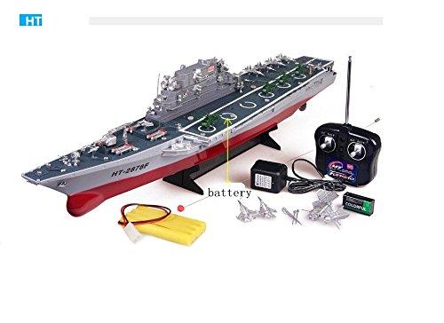 MODELTRONIC Bateau de guerre Navire de guerre RC USS Missouri BB-63 Échelle 1 Complet avec tout le nécessaire Navire radiocommandé Heng Tai 3826A Navire de guerre Bateau télécommandé 250 HT-3826A