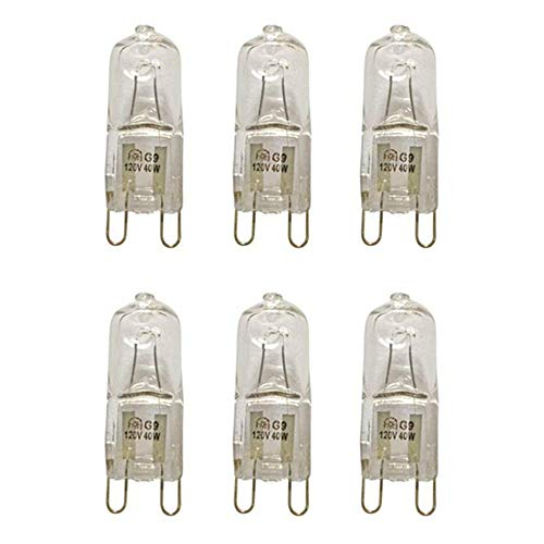 VSTAR G9 Halogen Bulb, 40-Watt 120-Volt Base G9 Halogen Bulb (Pack of 6)