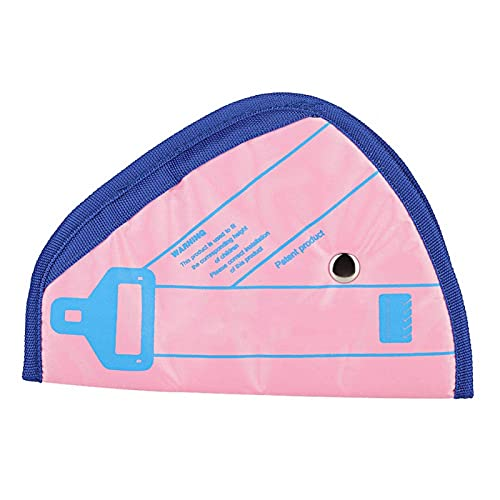 Shipenophy Dispositivo de cinturón Profesional posicionador de Asiento Protector Fuerte para Mejorar la Seguridad del automóvil(Pink)