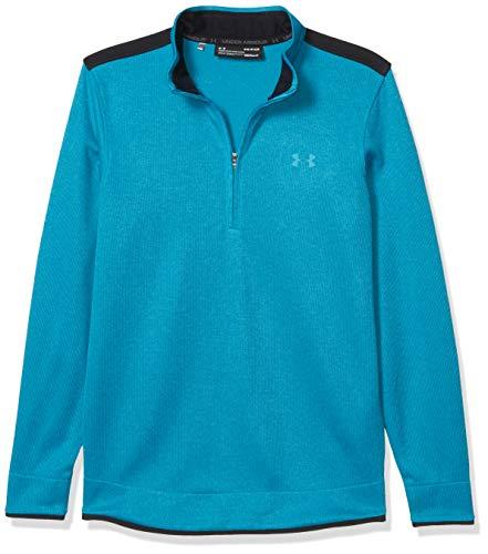 Under Armour Men's Sweater Fleece 1/2 Zip-Up, Escape (450)/Black, 3X-Large