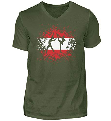 Camiseta de manga corta con cuello de pico para hombre, regalo para los amantes de los deportes de invierno, cuello en V