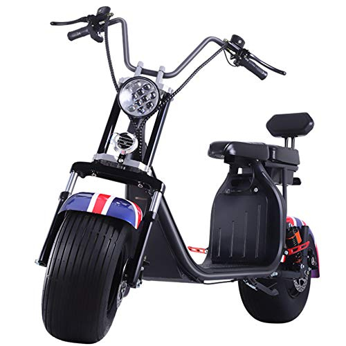 1500W Q7 Harley Elektrische fiets, LED Instrument Dual Shock Absorption Dual Disc Brake Scooter, One-Button Start verwijderbare batterij tweewielig Scooter