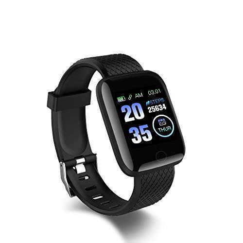 Reloj inteligente, reloj deportivo, monitor de fitness, resistente al agua IP67, reloj deportivo para fitness, seguimiento de actividad, pulsómetro para Android iOS