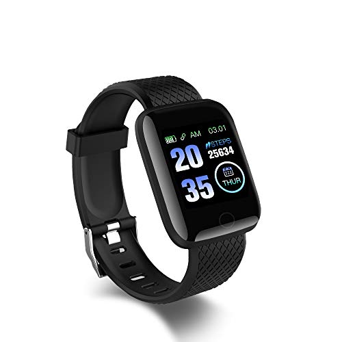 Smart Sport Watch, Fitness Smartwatch mit Herzfrequenzmessung, Fitness Tracker, Intelligente Uhr, 1,3'' Touchscreen Fitness Armbanduhr, Wasserdicht Sportuhr Schrittzähler Schlafmonitor, iOS Android