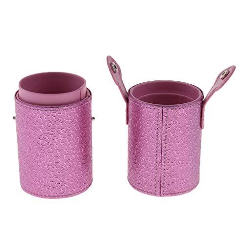dailymall Make Up Kosmetik Schmink Bürste Puderpinsel Halter Pinselhalter Container - Rosa