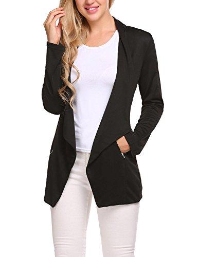Meaneor Women Blazer Elegant Office Suit Jacket Casual Outwear