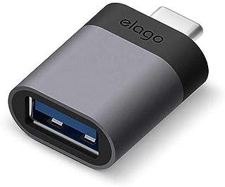 Elago Type-C to USB Adapter Combo (2pcs in one pack) EADP-ALUSBC-DG-2P Dark Gray