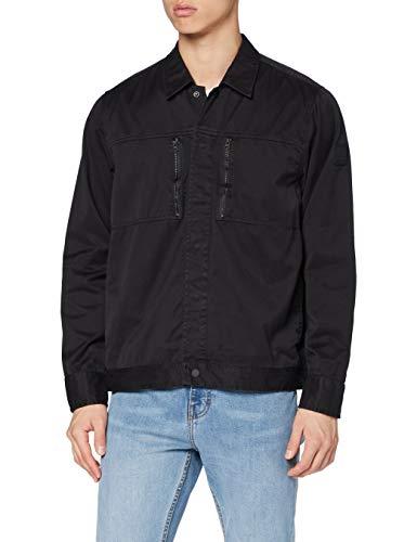 BOSS Lowy Camisa, Negro1, XXXL para Hombre