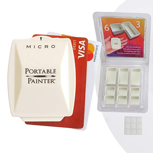 Micro Portable Painter Watercolor Palette with Extra Pans - Travel | Feather-Weight | Simplify Your Life