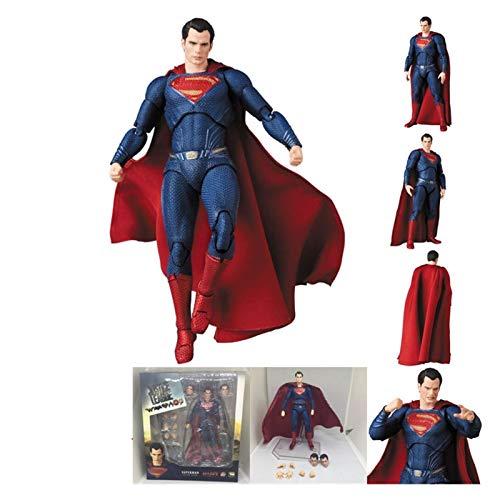 Letaowl Action Figure Mafex Flash Aquaman Figura John Wick Cyborg Action Figure Toys 15cm (Color : Superman 057)