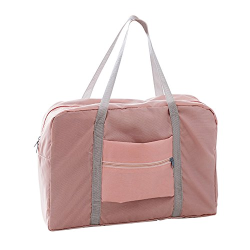 Lixada reistas grote capaciteit mannen opvouwbare waterdichte handbagage nylon reizen zeezakken unisex weekend zakken multifunctionele vrouwen vouwhandtassen reistassen roze.