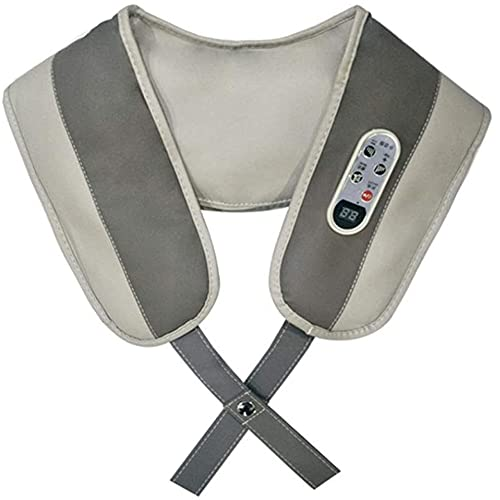 Angelay-Tian Masajeador de cuello con calor, masajeador de shiatsu para el cuello, la espalda, el hombro, el pie y la pierna, amasando ayuda a relajar los músculos en el hogar y el automóvil, el confo