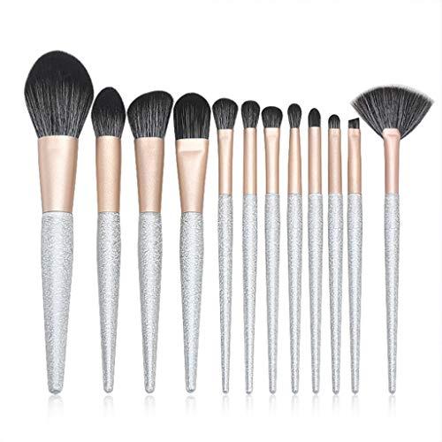 Pinceaux Ensembles, 12 Pièces Professionnelle Correcteurs Fond de Teint Poudre Ombre à paupières Fard à Joues lèvres Sourcils Peigne pinceaux de Maquillage Facial Maquillage Kits de Brosse