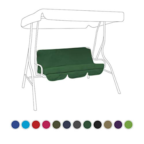 Gardenista Garden Swing Hammock Bench Cushion | Canopy Outdoor Patio Furniture Cushion Seat | Water Resistant Soft & Comfortable (Green, Seat Pad Only)