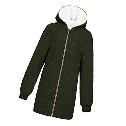 Winterjassen Dames Grote maat Capuchon Lange jas Rits Sweatshirt Casual trui