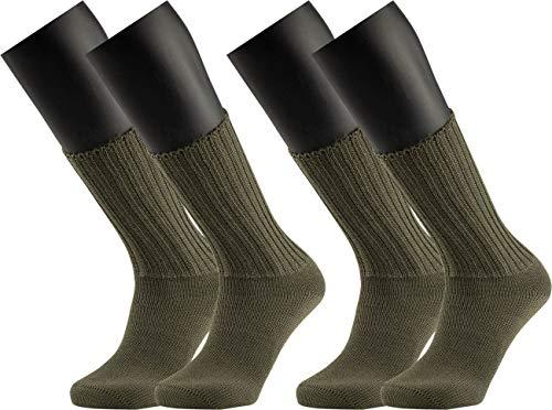 RS. Harmony Original Bundesheer Socke, sehr robuste Qualität, extra flache Naht | olivgrün | 42 | 2 Paar