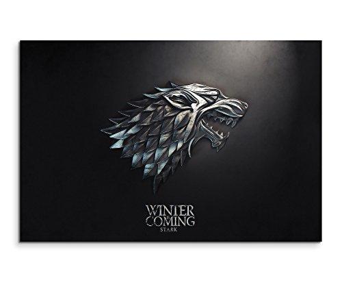 Game of Thrones Stark Wandbild 120x80cm XXL Bilder und Kunstdrucke auf Leinwand