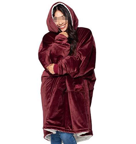 Oversized Sweatshirt Blanket, hoodie one size casual pajamas Fleece blanket