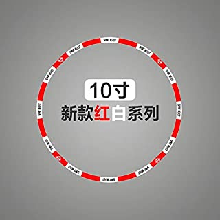 Motorcycle Tire Wheel Stickers 10 12 18 Inch for Honda Ktm Yamaha Suzuki Benelli Aprilla Bmw Harely Motorbike Bike (10 inch)