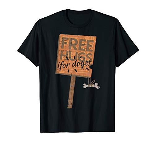 Free Hugs Für Hunde Schild Kostüm Halloween Outfit T-Shirt