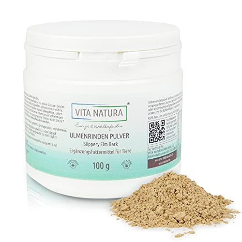 VITA Natura amerikanische Ulmenrinde - Slippery Elm Bark - Ergänzungsmittel für Hunde, Katzen und Pferde - aus Kanada - in 100 g Packung erhältlich