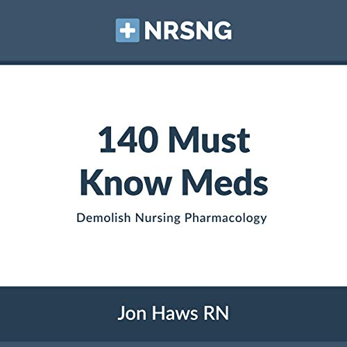 140 Must Know Meds: Demolish Nursing Pharmacology audiobook cover art