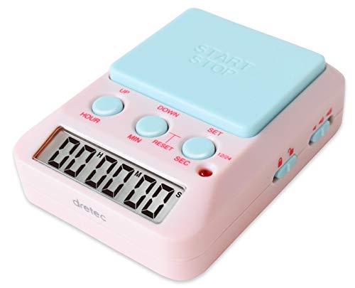 ドリテック 改良版 勉強タイマー タイムアップ2 消音 T-587PK ピンク ブルー