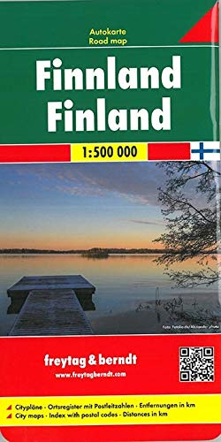 Finnland, Autokarte 1:500.000, freytag & berndt Auto+Freizeitkarten