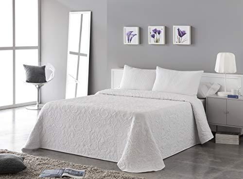 Vialman sprei, wit, 180 cm brede bed: 270 cm x 260 cm.