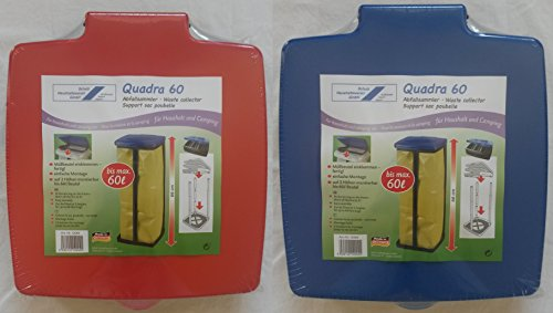 Schulz 12004 - Quadra 60 Abfallsammler / Müllsackständer für Müllsäcke von 60 Liter - diverse Farben - keine Farbwahl möglich!