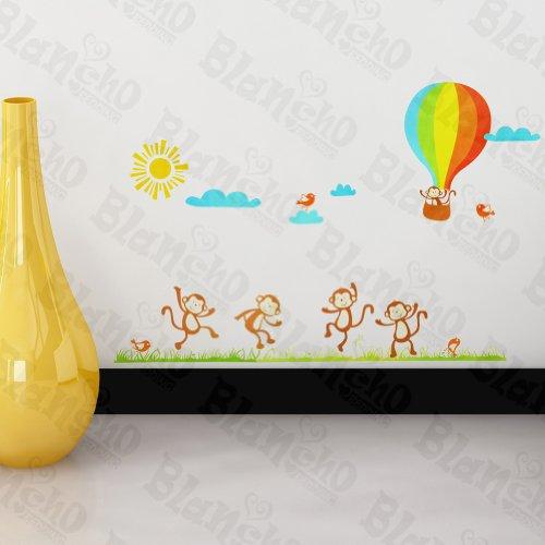 Singe et patchs à Hot Balloon – Stickers muraux Stickers Décoration intérieure