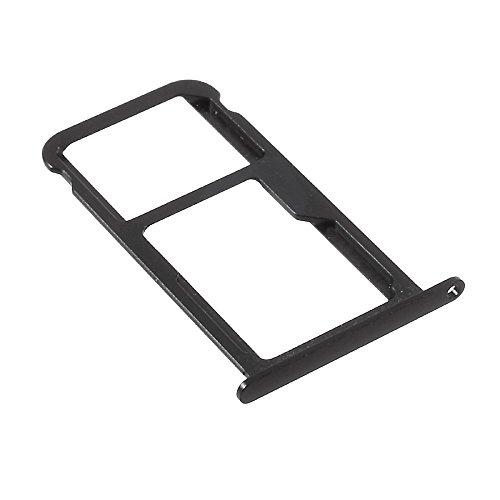 jbTec SIM-Tray/SD-Card Karten-Halter passend für Huawei P10 - Slot Schlitten Kartenhalter Karte Rahmen Simkarten Simkartenhalter Holder Handy, Farbe:Schwarz