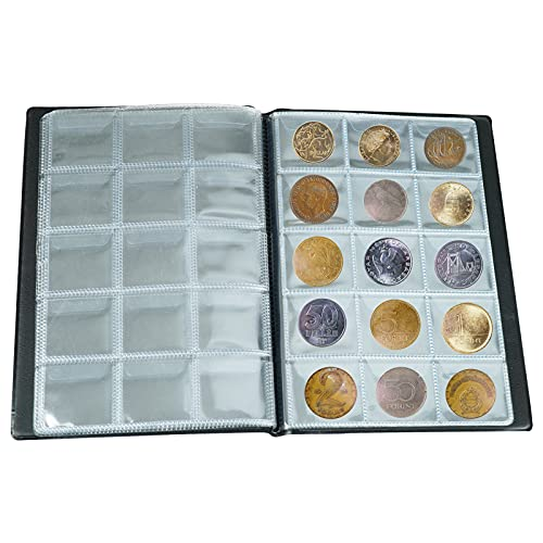 Hafuloky 150 Pockets Coin Albums Holders for Collectors, Coin Collection Supplies kit Coin Books Folders and Albums Money Pressed Penny Coins Collection Holder for Coin Collectors