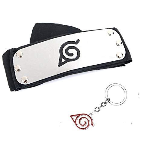 Naruto llavero y cinturón bandana diadema hoja Konoha...