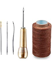 KOMANT 銅ハンドル 靴修理ツール ハンドステッチャー ハンドミシン 靴修理用ニードル 手縫機 糸通し器 革用ミシン針 手縫い針 縫製