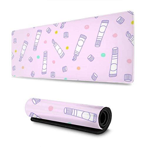 Pink Cartoon Zahnpasta Große Mauspad Tastatur Pad Langes erweitertes Mehrzweck-Computerspiel Mausmatte